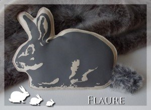 coussin petit lapin gris1